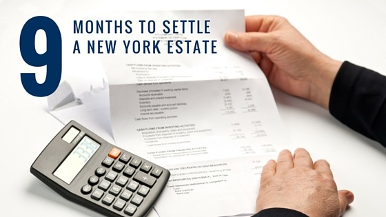How long to settle an estate in New York