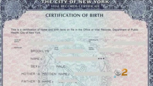 Does the birth certificate prove paternity?